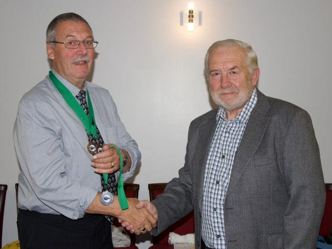 Colin Mitchell, runner up Handicap Singles