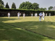 A beautiful day for bowls