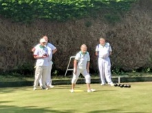 Burpham follow their bowl's progress