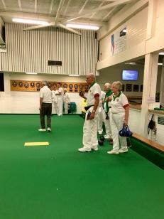 Bernard prepares to bowl for Merrow