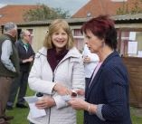 Anne chatting to a club member