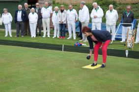 Anne gives bowling a try