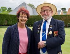 Anne with our President, David Matthews