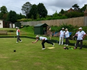 Rodney bowls for the Chairman's side