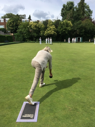 Claire bowls for Woking