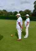 Len and Jarek watch the action