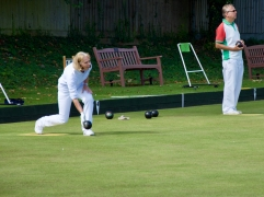 Jackie bowls to stay ahead