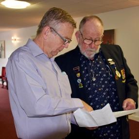 Richard and David check the running order