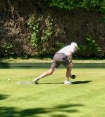 Tony Reardon on the green